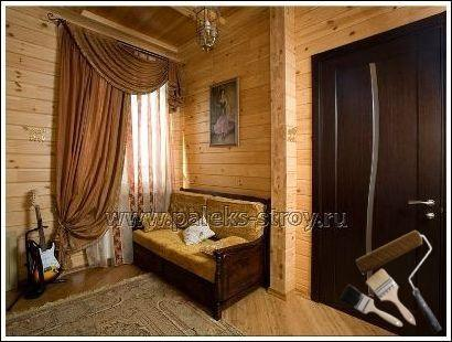 Интерьер деревянного дома внутри фото